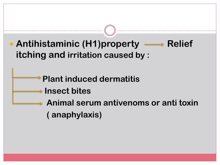 Antihistaminic (H1)property