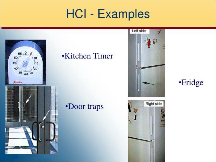 HCI - Examples
