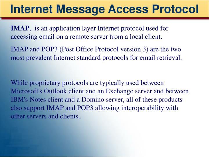 Internet Message Access Protocol