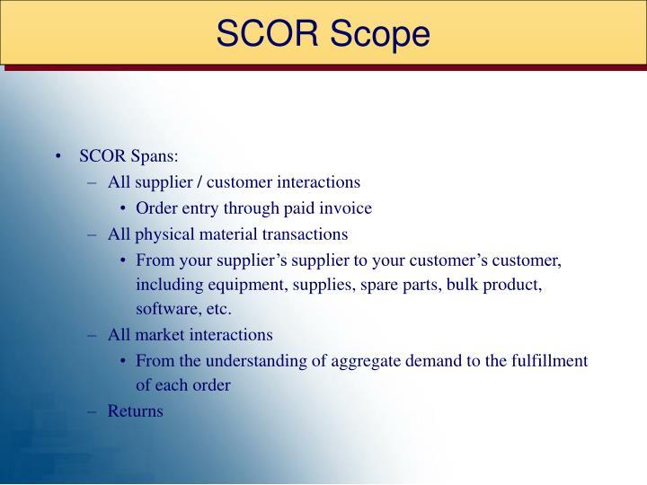 SCOR Scope