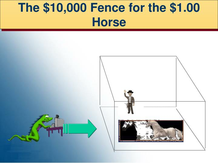 The $10,000 Fence for the $1.00 Horse