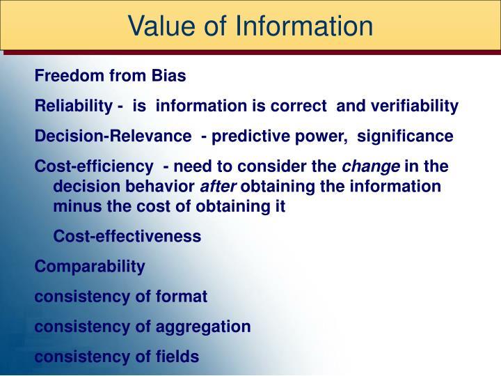 Value of Information