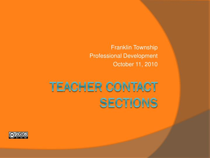 teacher contact sections n.