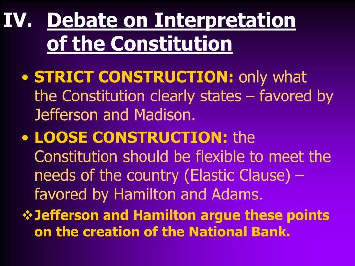 Debate on Interpretation