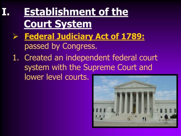 Establishment of the