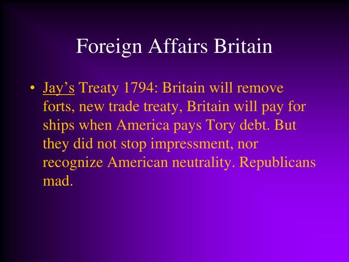 Foreign Affairs Britain