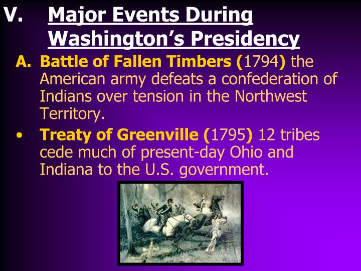 Major Events During