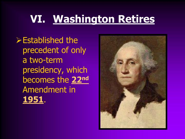 Washington Retires