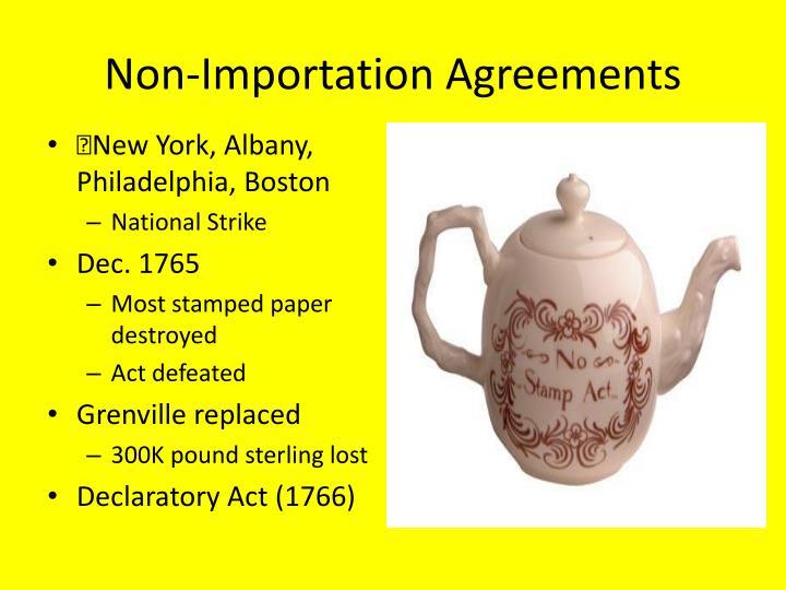 Non-Importation Agreements