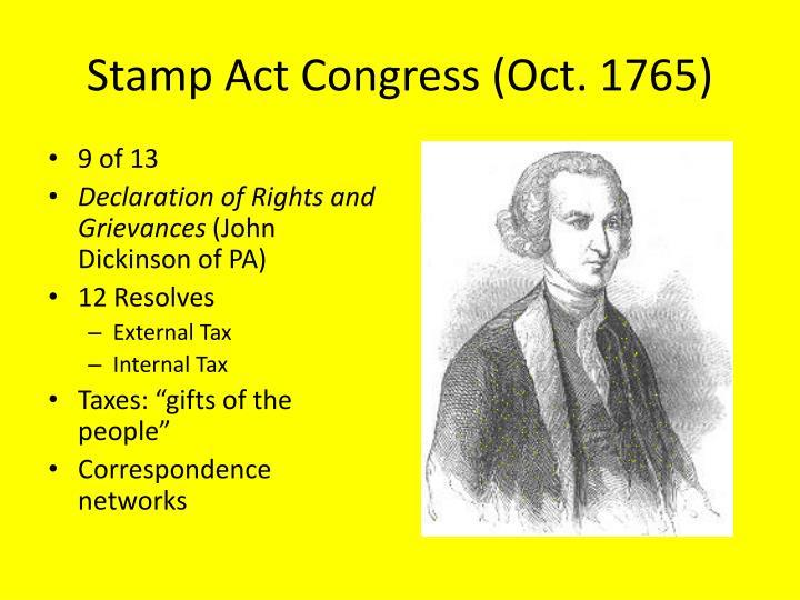 Stamp Act Congress (Oct. 1765)