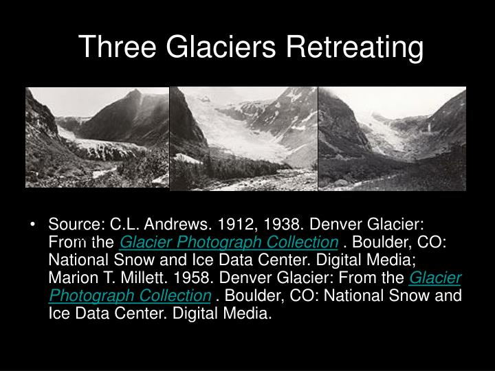Three Glaciers Retreating