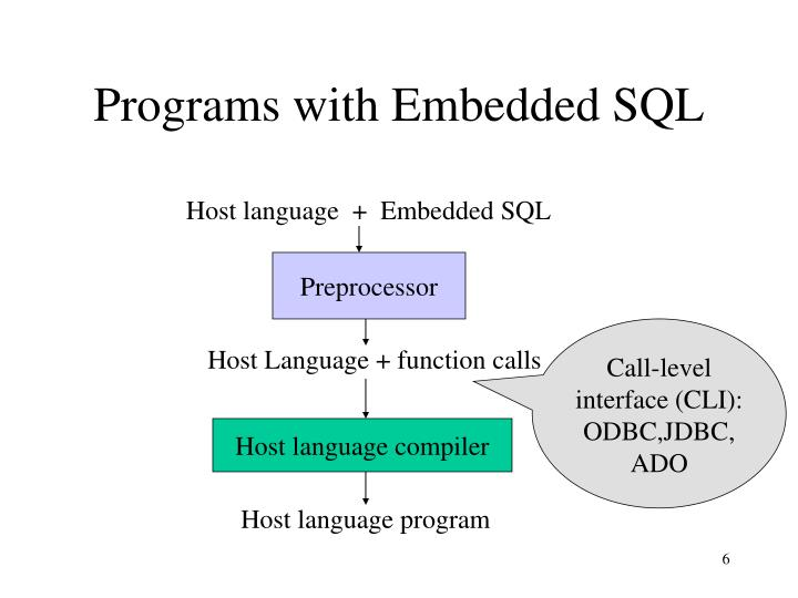 Programs with Embedded SQL