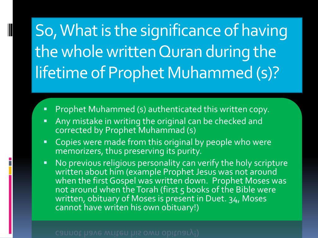 PPT - Quran Compilation, Transmission & Preservation