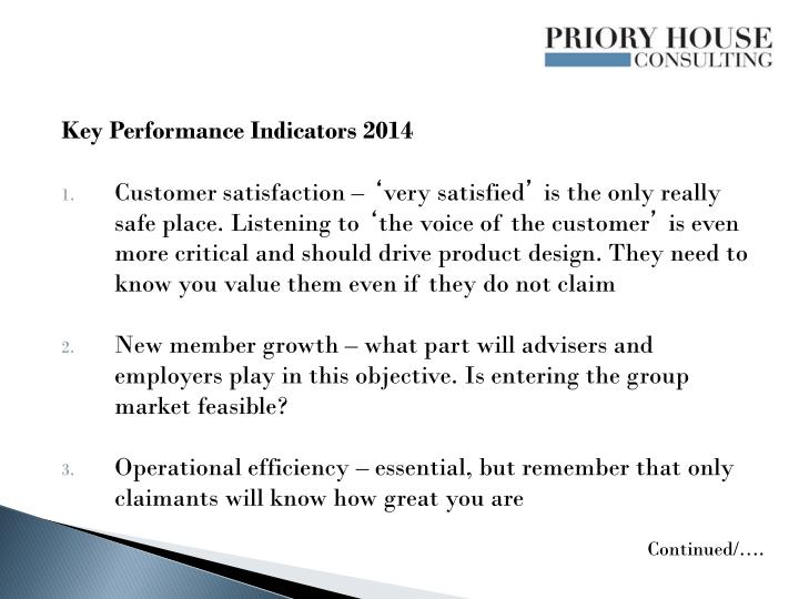 Key Performance Indicators 2014