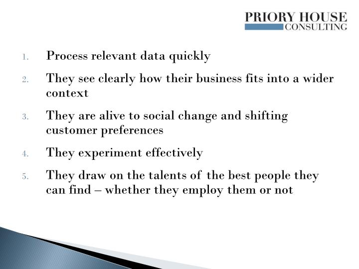 Process relevant data quickly