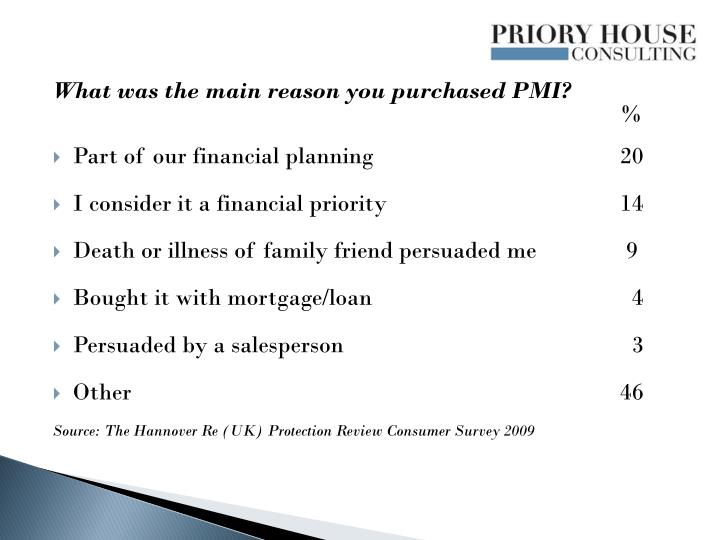 What was the main reason you purchased PMI?