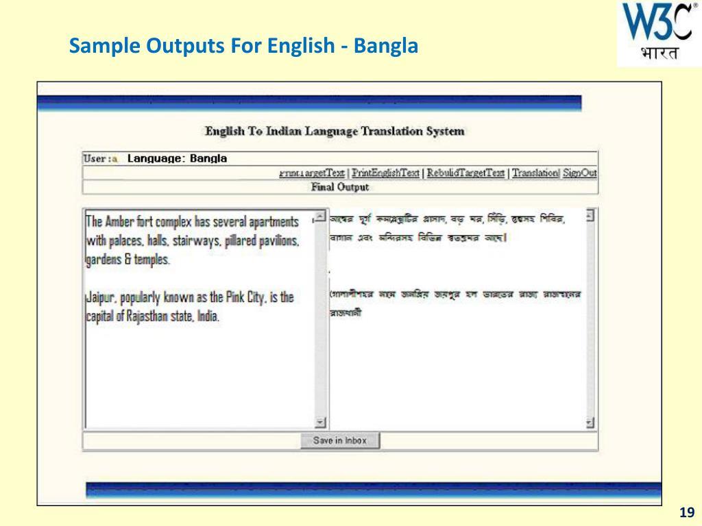 Bengali To Mizo Language Translation