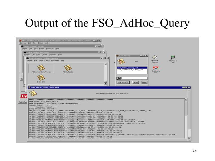 Output of the FSO_AdHoc_Query
