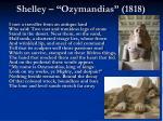 shelley ozymandias 1818