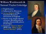 william wordsworth samuel taylor coleridge
