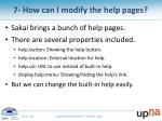7 how can i modify the help pages