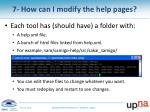 7 how can i modify the help pages1