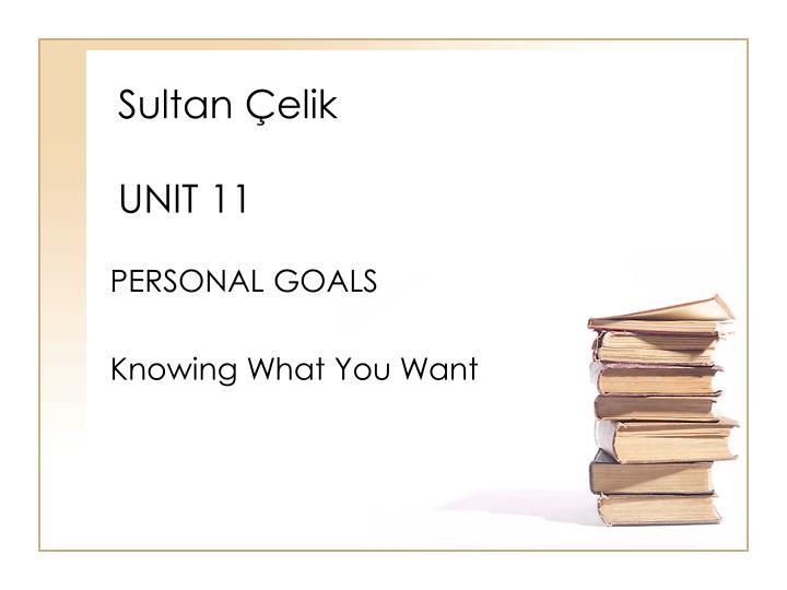 Sultan elik unit 11
