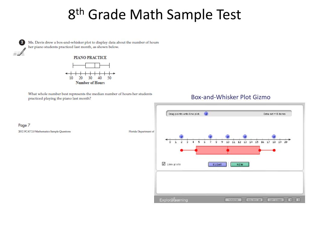 Ppt 8 Th Grade Math Sample Test Powerpoint Presentation Free