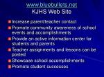 www bluebullets net kjhs web site