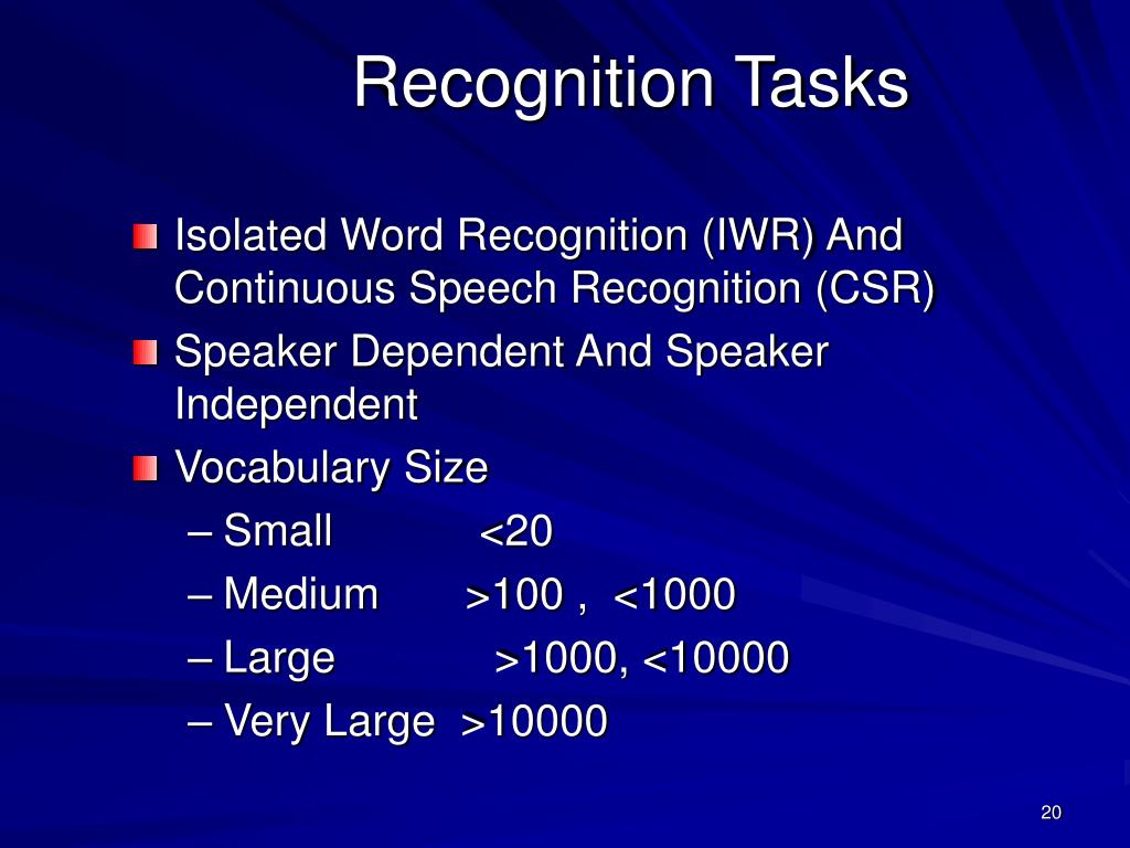 PPT - 7- Speech Recognition (Cont'd) PowerPoint Presentation - ID