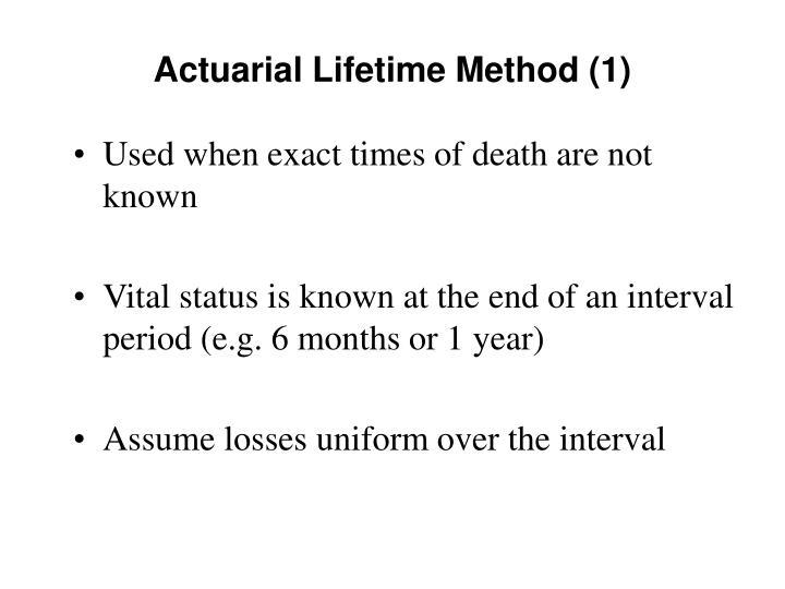 Actuarial Lifetime Method (1)