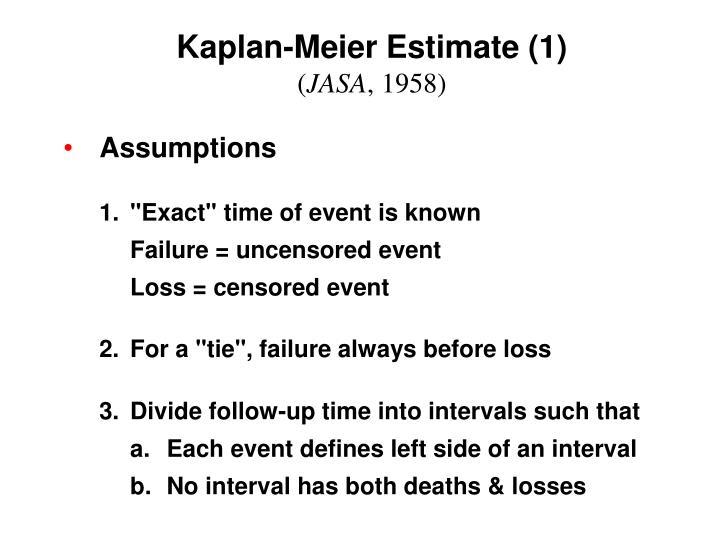 Kaplan-Meier Estimate (1)
