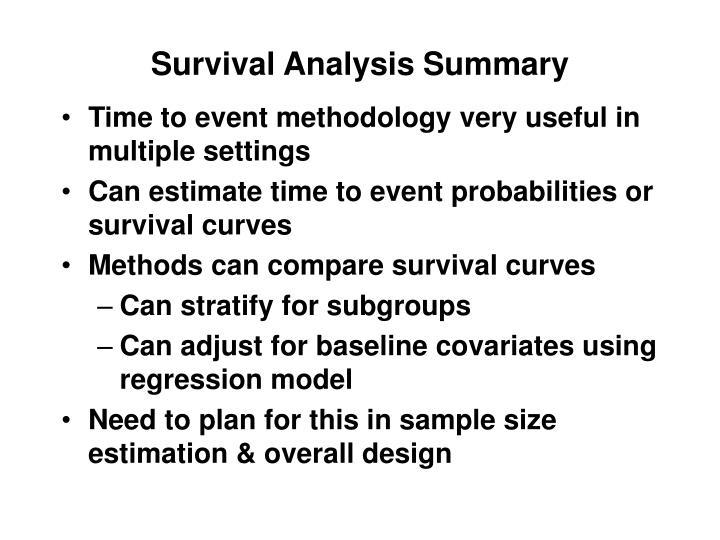 Survival Analysis Summary