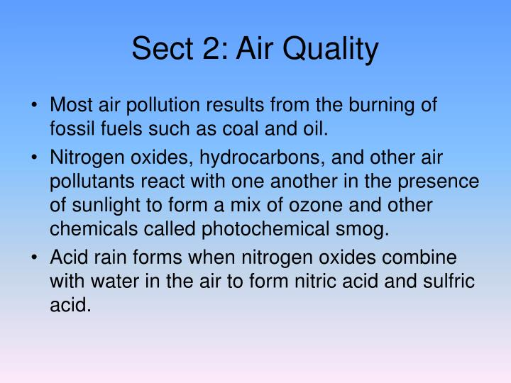 Sect 2: Air Quality