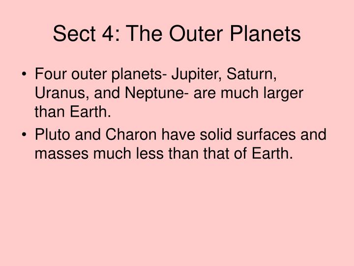 Sect 4: The Outer Planets