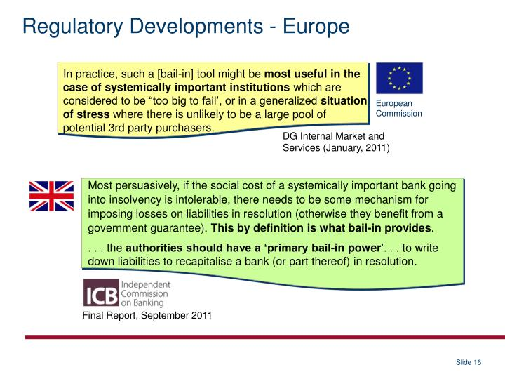 Regulatory Developments - Europe