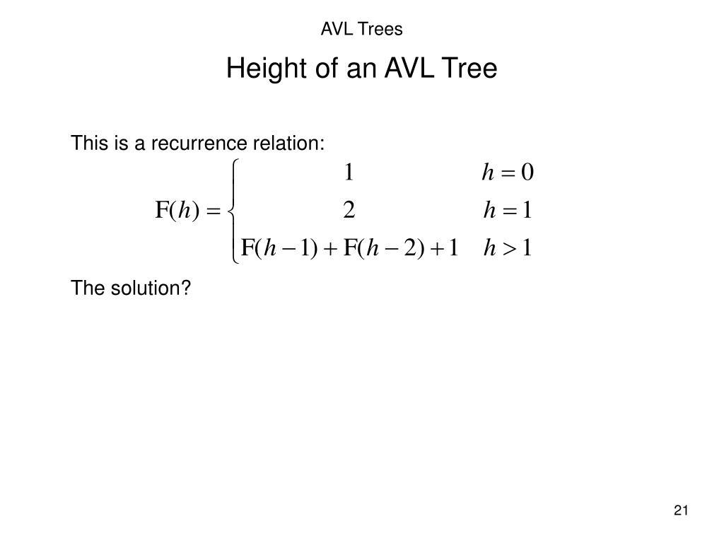 PPT - AVL Trees PowerPoint Presentation - ID:6196487