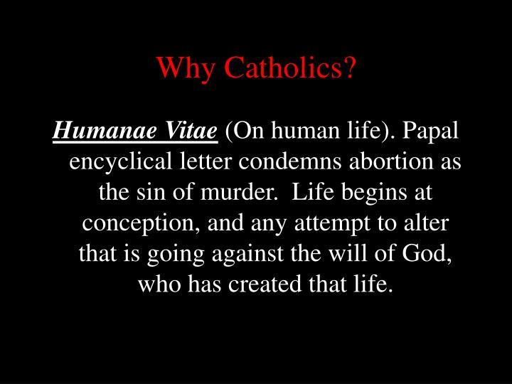 Why Catholics?
