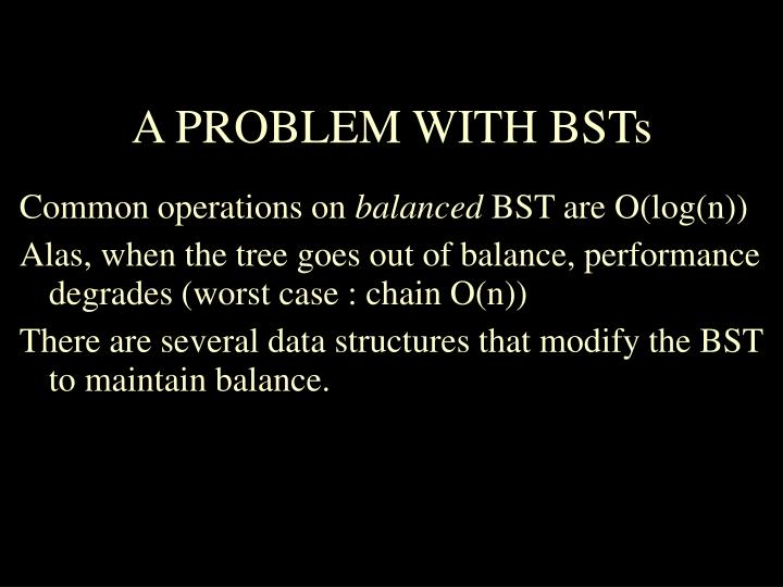 A problem with bsts