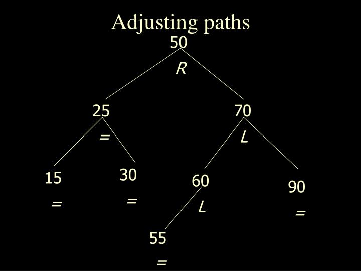 Adjusting paths
