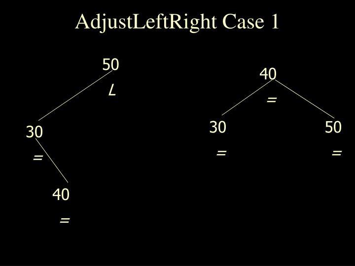 AdjustLeftRight Case 1