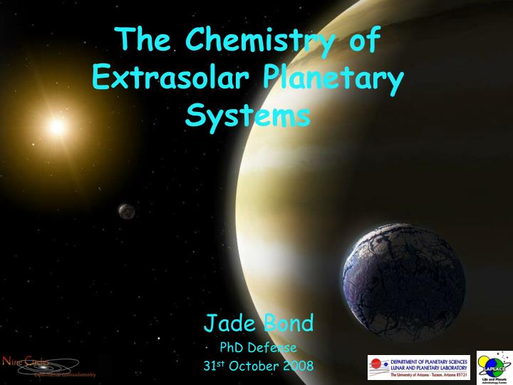 the chemistry of extrasolar planetary systems n.