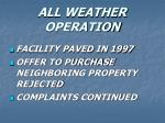 all weather operation