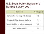 u s social policy results of a national survey 20011