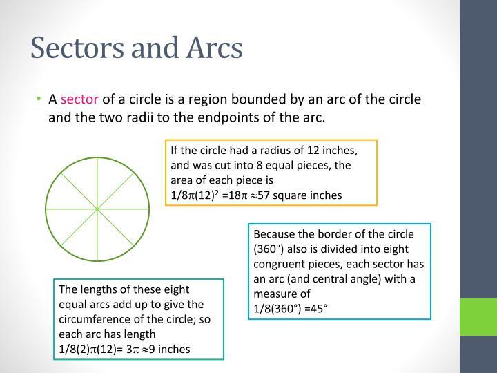 Sectors and Arcs