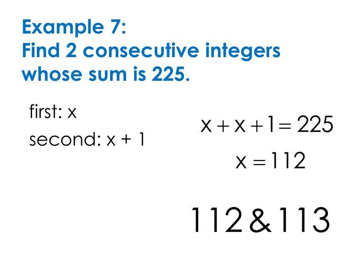 Example 7: