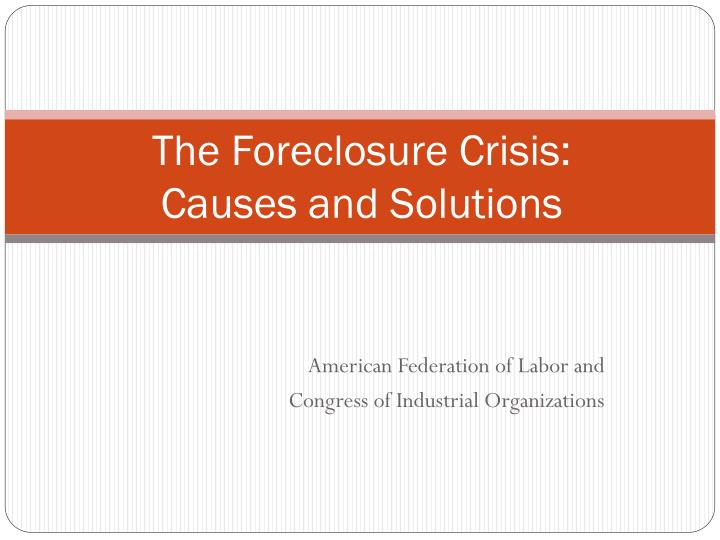 solving the foreclosure crisis caused by slated Effective problem solving does take some time and attention more of the latter than the former but less time and attention than is required by a problem not well solved what it really takes is a willingness to slow down.