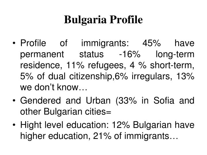 Bulgaria profile