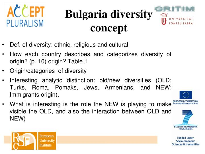 Bulgaria diversity concept