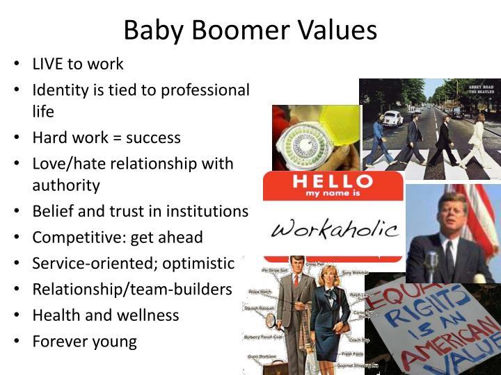 Baby Boomer Values